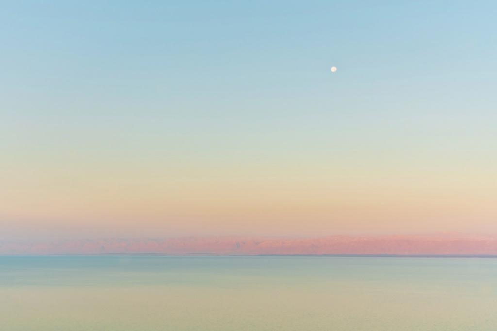 A moon landed on the Dead Sea