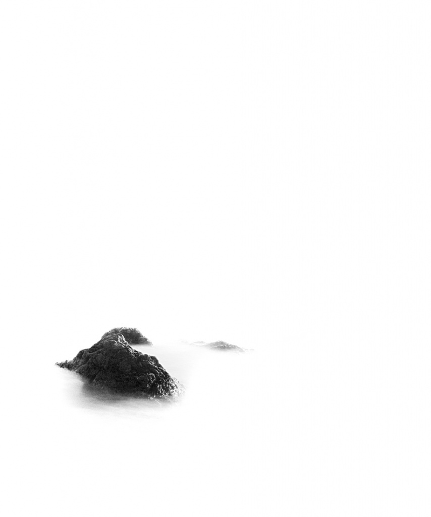 White, Silence, Sea, Rock
