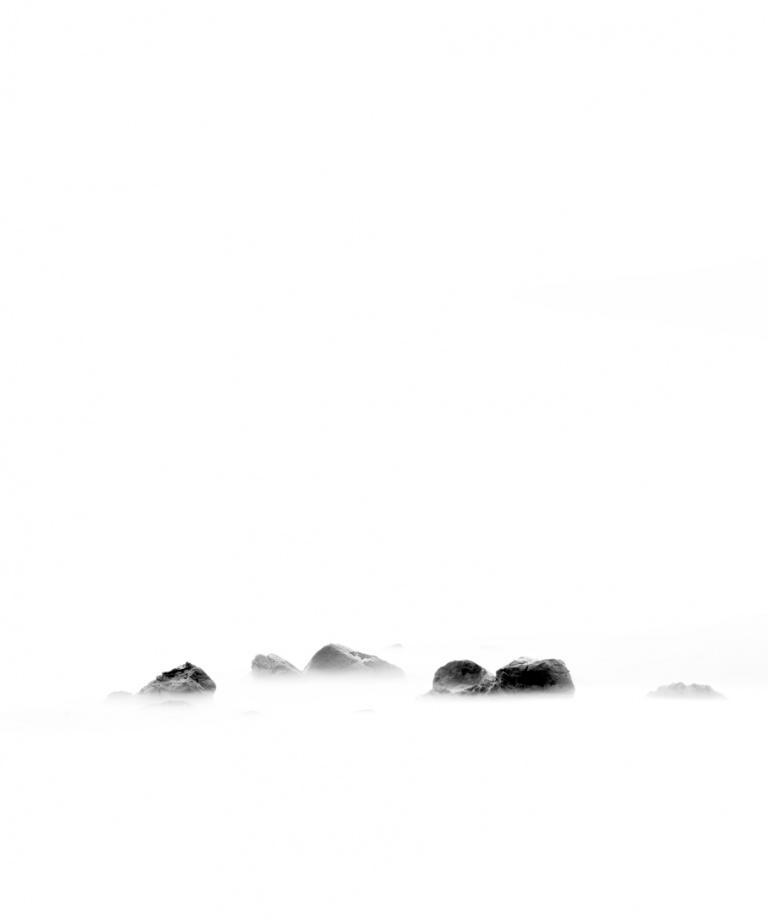 White, Silence, Sea, Rock