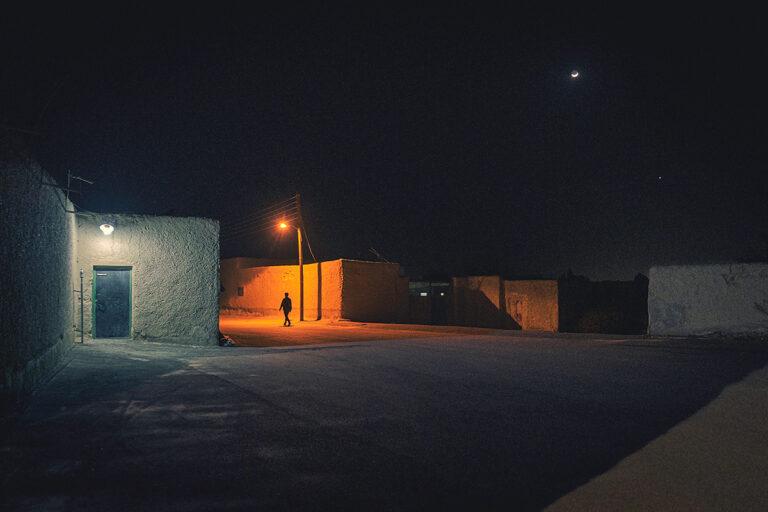 Walk under moon light