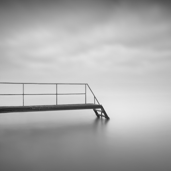 Eternity of silence, a day not to forget. A foggy peacefull day at the Markermeer the Netherlands.