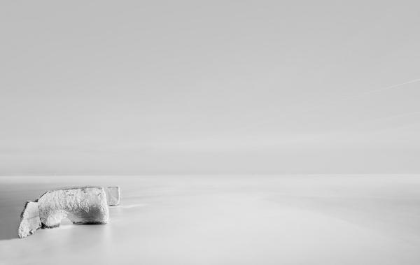 Old-Harrys-Rocks-Alone-in-Monochrome